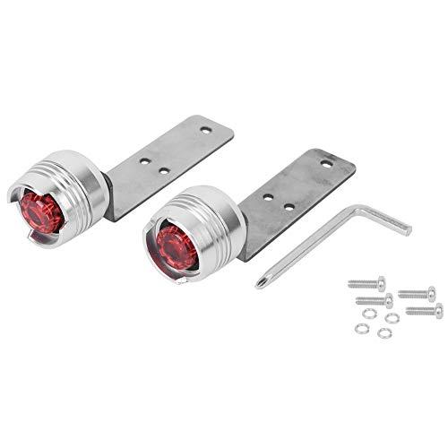 Leyeet Aleación de aluminio Scooter eléctrico Placa inferior Seguridad Señal de advertencia Luz Accesorio para Mijia M365 (Plata)
