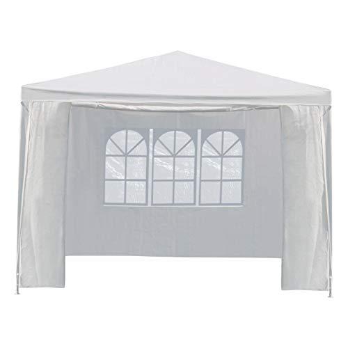 Yaheetech Pavillon Partyzelt mit Seitenteilen Gartenpavillon Party- und Festzelt Camping- und Festival-Zelt für Garten Terrasse Feier Markt wasserdichtes Dach 3 x 3 m Weiss