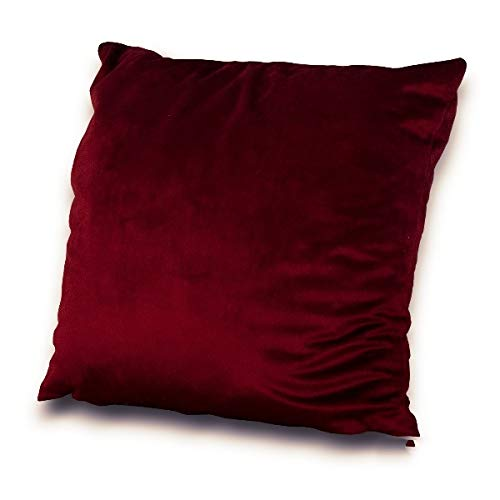 Velvet Plush Stretch Cushion Insert Filled Padded Cushion With Covers UK For Couch Chair Loveseat Sofa Furniture Seat Cushion Sofa Accessories with Invisible zipper Enclosure Washable Dark Red 22'
