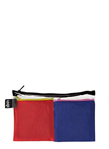 LOQI PURO Pocket – Einkaufstaschen Set, Reise-Henkeltaschen, Candy und Violet