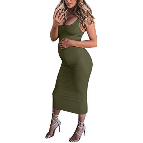 Sujetadores premamá y de Lactancia Mujeres Sólidas Embarazadas Prendas de Maternidad Prendas Ajustadas Vestidos Largos Ocasionales Ropa Ciclismo Mujer Maternidad gestación Vestido Ropa Atuendo Vestir