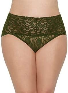 Hanky Panky Women's Plus Size Leopard Nouveau Retro V-Kini Brown Bikini 1X (16W-18W)