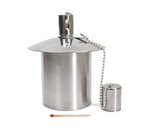Öllampe Einsatz - Ölbehälter Gartenfackel - aus Edelstahl - ca. 170 CCM Inhalt - EIN Qualitätsprodukt von Hannas Laden