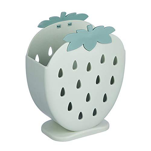 PPuujia Caja de almacenamiento para cubiertos de cocina, palillos, tenedor, caja de almacenamiento, fresa, escurridor, palillos, contenedor de vajilla (color verde)