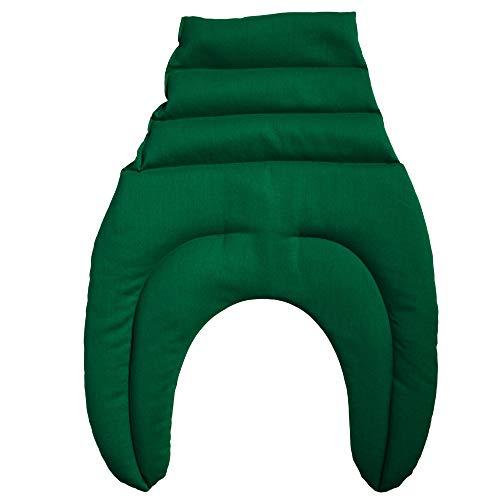 Nackkudde med kammare och rygg grönt huvud och nackstöd rygg värmelyna