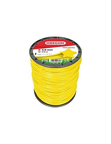 Oregon 69-461-Y Fil de coupe en étoile jaune, 3,0mm, bobine de 212m
