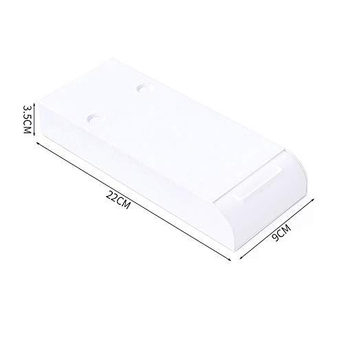 MEICHENG-DZ Erfrischendes Adhesive Desktop-Organizer-Fach Sundries Self-Stick-Stiftablage Untertischhalter Pop-up Pen Speicher-Fach Makeup Organizer einfach (Color : White)
