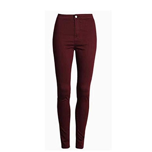KXDNZK ZKKXDN Fashion Slanke jeans vrouwen Vrouwelijke witte jeans met hoge taille nauwe jeans vrouwen candy kleur broek vrouwen broek