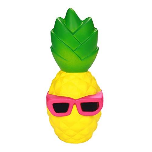 Anboor Squishies Ananas Sonnenbrille Schlüsselanhänger Antistress Squishies Squeeze Quetschen Spielzeug Slow Rising Spielzeug Geschenk für Kinder Erwachsene (zufällige Farbe, 4*4*16cm, 1 Stück)