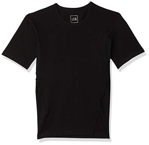 LEO Camiseta Atlética de Control con Malla Incorporada