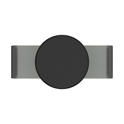 PopSockets: PopGrip Slide Non-Adhesive Phone Grip & Stand with a Swappable Top for iPhone 11 Pro Silicone Case - Black Haze
