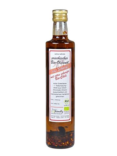 direct&friendly Bio Olivenöl mit extra scharfer Bio Chili (500 ML)