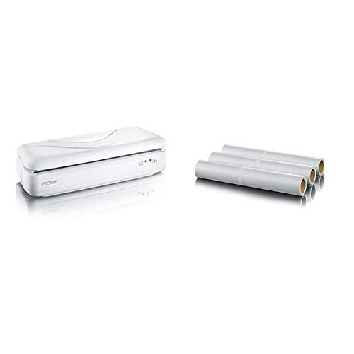 SEVERIN FS 3604 Folienschweißgerät (Schweißnaht B:28,5cm, Inkl. 1 Rolle Folie) weiß & ZU 3608 Ersatzfolie