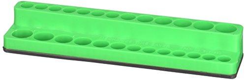 Mechanic's Time Savers MTS726 Drive Socket Holder (1/4 in. Magnetic Dark Green 4-14mm)