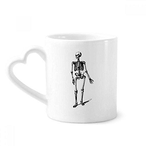 beatChong Gehen Menschliches Skelett Skizze Kaffeetassen Keramik Keramik-Cup mit Herzen Griff 12 Unzen Geschenk