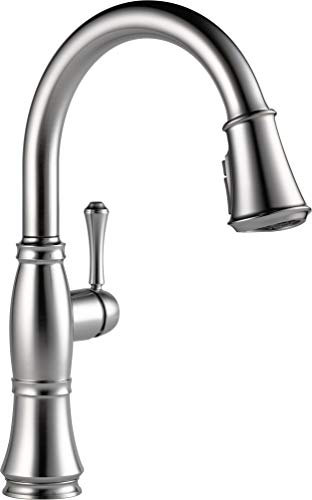 Delta Faucet Cassidy Single-Handle Kitchen Sink Faucet with Pull Down Sprayer, ShieldSpray...