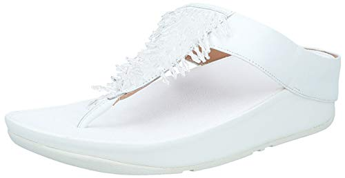 Fitflop Rumba Toe-Thong Sandals, Bout Ouvert Femme, Blanc Urban White 194, 41 EU