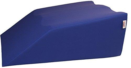 nudischer Lymphdrainage-Beinlagerungskeil | Länge: 70 cm Breite: 55 cm Höhe: 28 cm | Bezug 100% Baumwolle Farbe blau
