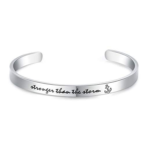 CERSLIMO Inspirational Friendship Gifts for Women Best Friend Bracelet Cuff Bangle Motivational Encouragement Birthday Gifts for Teen Girls