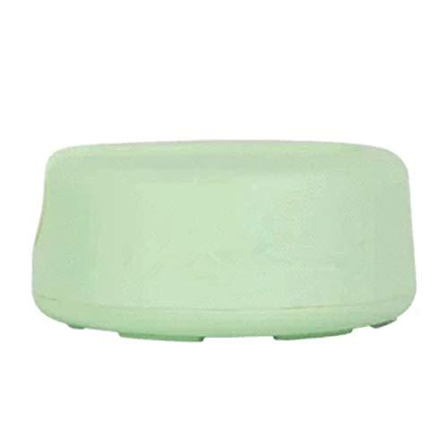 xingxing Almohadillas de microfibra para eliminar el maquillaje facial, algodón redondo, doble capa, toalla de limpieza reutilizable para uñas (color verde)