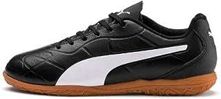 PUMA Monarch IT Jr Boys' Futsal Shoes, Puma Black-puma White, 11 US