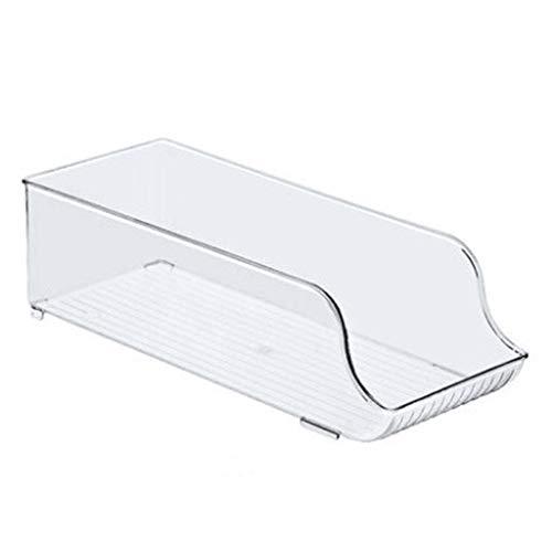 Kaijia Organizador de refrigerador, organizador apilable, caja de almacenamiento con asas de recorte para gabinetes de congelador