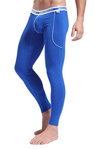 ARCITON Men's Low Rise Leggings Long Johns Thermal Pant US M/with Tag L(Waist: 33'- 35') 3004ckuBlue