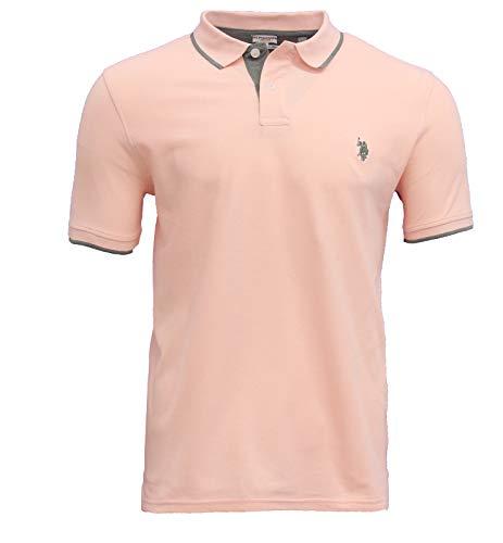 U.S. POLO ASSN. 87A3 44319 Herren Kurzarm Poloshirt Polohemd Rosa Gr L