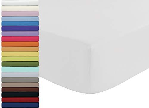Tata Home Lenzuolo sotto con Angoli ed Elastici 100% Cotone Misura cm 180x210 Letto Matrimoniale Due Piazze Altezza cm 25 Colore Bianco Made in Italy 57 Fili al cm2