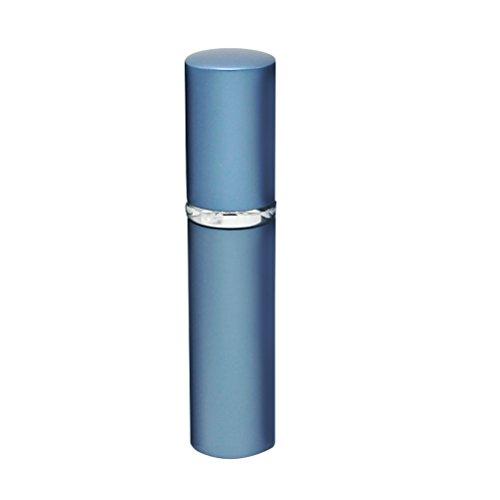 Lurrose 5ml Botella de spray Mini Perfume Atomizador recargable portátil del perfume del viaje de aluminio Recipiente Contenedores (Azul)