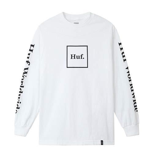 ハフ HUF ハフ DOMESTIC L/S TEE WHITE 長袖Tシャツ 日本代理店正規品 (M)