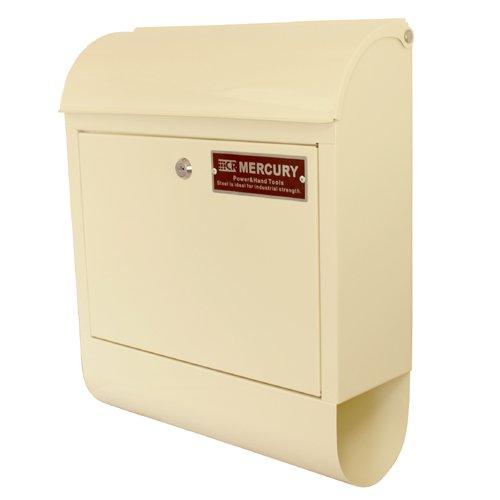 MERCURY メールボックス 郵便ポスト ロックキー開閉式 アイボリー