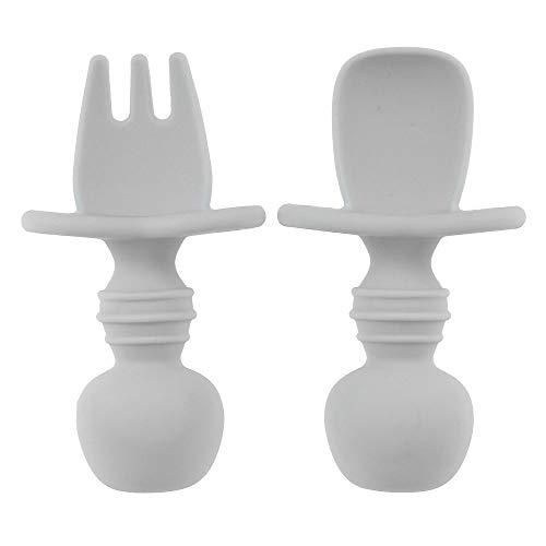 N/G Baby First Self Feeding Spoon Fork Set, Infant Silicone Chewtensils...