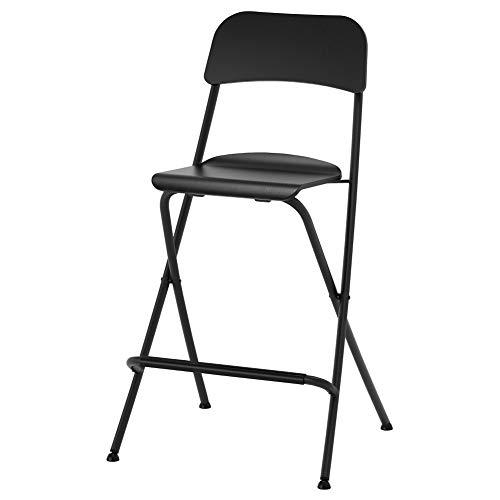 Ikea Asia Franklin sgabello da bar con schienale pieghevole nero nero