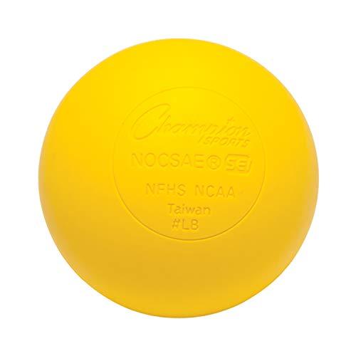 Champion Sports LBY - Pelota de Lacrosse Unisex, Color Amarillo, 1