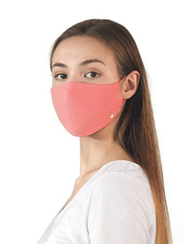 TOM TAILOR Unisex Stoffmaske wiederverwendbar, Strong Peach Tone, Einheitsgröße