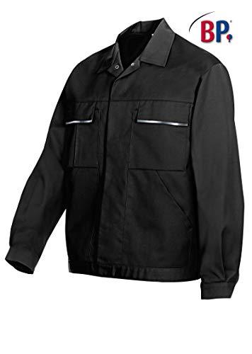 BP 1602-559-32-52/54l Arbeitsjacke, Verdecktes Druckknopfband und Taschen, 245,00 g/m² Stoffmischung, schwarz,52/54l