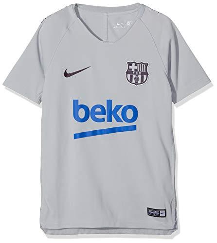 Nike Kinder FC Barcelona Breathe Squad T-Shirt, Wolf Grey/Purple Dynasty, M