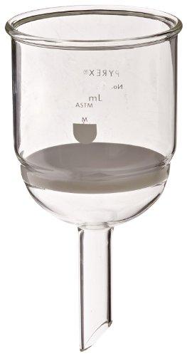 Corning Pyrex Borosilicate Glass Buchner Funnels with Medium Porosity Fritted Disc, 80mm Disc Diameter, 350ml Capacity (Case of 3)