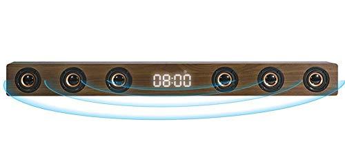 GANE Barra de Sonido estéreo HI-FI de Madera de 30 W, Altavoz inalámbrico de TV Bluetooth, Soporte RCA AUX HDMI, para televisión de Cine en casa, A