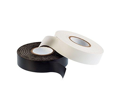 gocableties schwarz & weiß PVC Elektro-Isolierband–33m x 19mm–PREMIUM Twin Pack–2große Rollen von hoher Qualität Klebeband