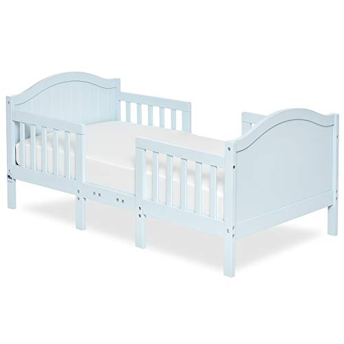 Dream On Me Portland 3 In 1 Convertible Toddler Bed in Sky Blue, Greenguard Gold Certified