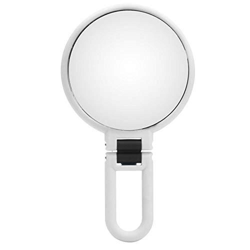 TuToy 10X Vergroting Verstelbare Make Up Spiegels Dubbelzijdige Vanity Opvouwbare Spiegel Badkamer Reizen, Kleur: wit, 1
