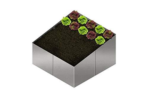 EllasDekokrempel Hochbeet Beet Gartenbeet aus Edelstahl Frühbeet – Hochbeet Bausatz