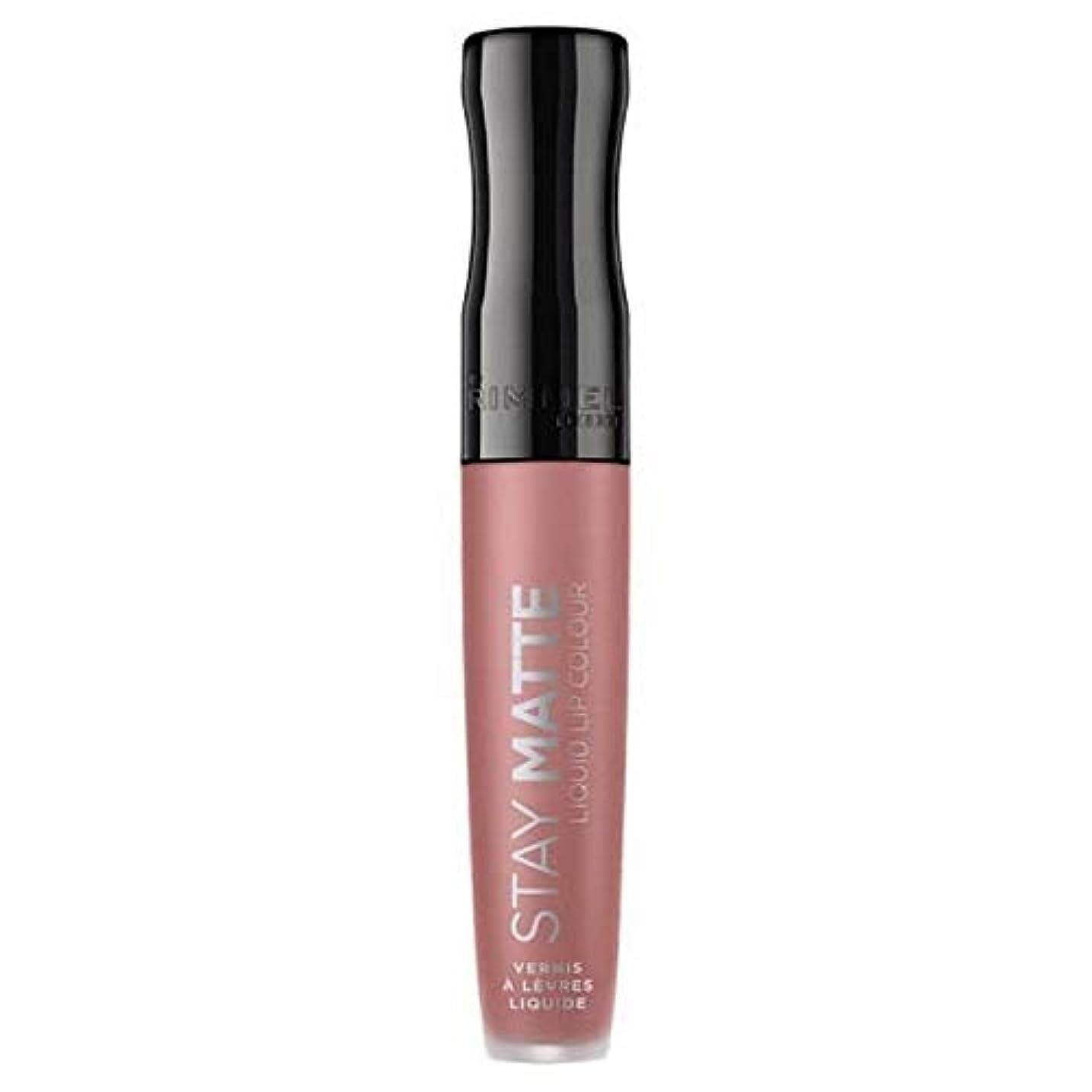 とティーム近代化乳[Rimmel ] リンメルステイマット液体リップ口紅ストラップレス - Rimmel Stay Matte Liquid Lip Lipstick Strapless [並行輸入品]