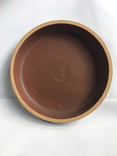 K&K Unterschale/Untersetzer Bunzlau rund 18 x 3,5 cm, BRAUN aus hochwertiger Steinzeug-Keramik