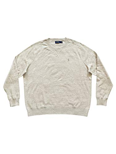 Ribbed Crew Neck Sweater Men