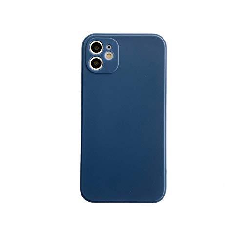 Aplicable a la carcasa del teléfono móvil iPhone 12 Pro max, carcasa de silicona de borde recto de cubo de Rubik de borde recto, 6.16.7 pulgadas