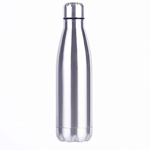 HUUATION Cola de Acero Inoxidable Motion Sport Botella de Agua Roble Roble Copa de Agua Monocapa Sin conservación de Calor Botella de Metal Cola(350ML)