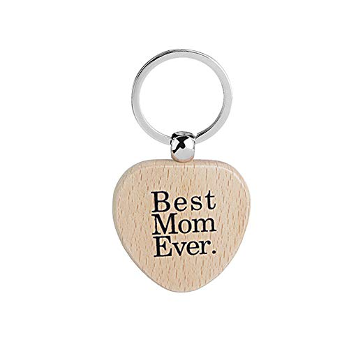 Christmas Gifts for Mom Mother - Best Mom Ever Heart Keychain Key Tag Mom Birthday Mothers Valentines Day Gifts from Daughter Son